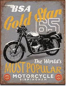 BSA Gold Star steel sign (de)